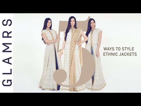 5 Ways To Style An Ethnic Long Jacket | Styling Tips & Tricks!
