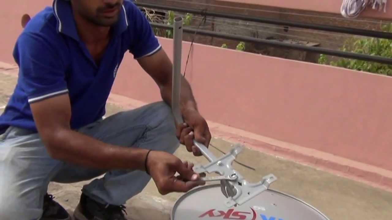 Sky Dish Installation >> Assembling of Tata-Sky Dish (Live Video) (Hindi) (720p HD) - YouTube