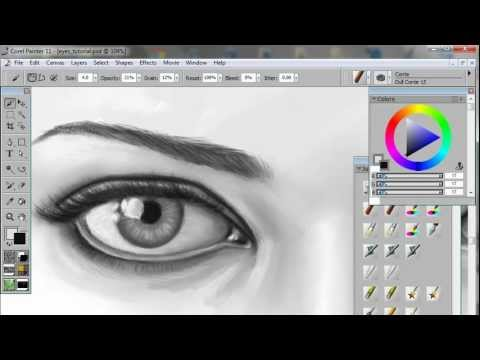 Digital Eye Drawing How to Draw Paint Eyes a