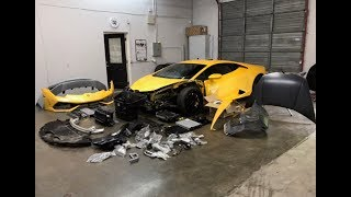 REBUILDING A WRECKED LAMBORGHINI HURACAN FROM COPART PART 1