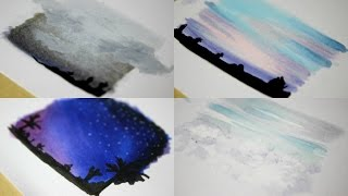 TIME LAPS: 4 BACKGROUNDS with COPIC MARKER | Chizakura Art