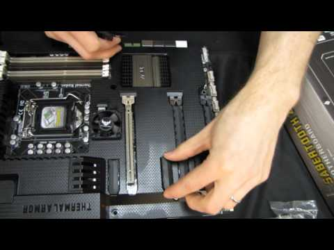 ASUS Sabertooth Z77 Ivy Bridge Gaming Motherboard Unboxing & First Look Linus Tech Tips