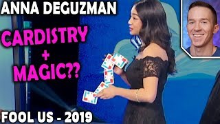 Magician REACTS to Anna DeGuzman on Penn and Teller FOOL US 2019