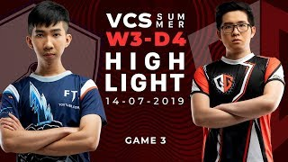 FTV vs QG HighLights [VCS Mùa Hè 2019][14.07.2019][Ván 3]