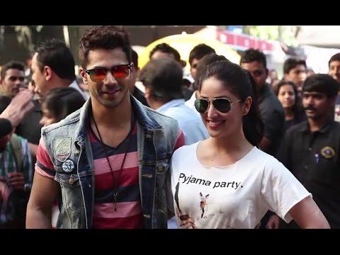 Varun Dhawan & Yami Gautam At National College