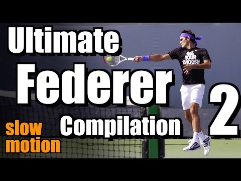 Roger Federer Ultimate Slow Motion Compilation - Forehand - Backhand - Serve - 2013 Cincinnati Open