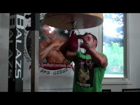Speed Bag Scissorhands - Raw ! Fast Hands boxing MMA training at the Jersey Shore Image 1