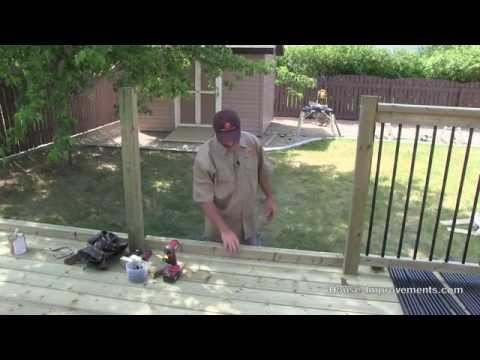 How To Build A Deck #4 Railing