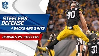 Pittsburgh's Defense Comes Away w/ 4 Sacks & 2 INTs! | Bengals vs. Steelers | Wk 7 Player Highlights