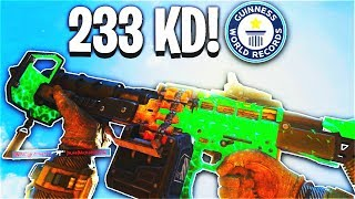 *NEW* WORLD RECORD 233-1 GAMEPLAY! (WORLDS HIGHEST KD RATIO) - COD BO4