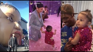 Kylie Jenner Throws Stormi a MILLION DOLLAR PARTY (ft. ACE FAMILY, DJ KHALED,etc. (FULL)