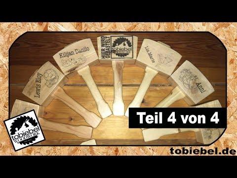 (4/4) Ich baue 15 Holzhammer / Holzhammer selber bauen / Drucken auf Holz / auf Holz drucken /Mallet