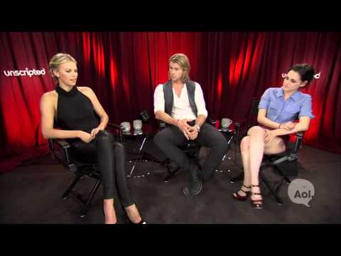 Kristen Stewart, Charlize Theron and Chris Hemsworth,