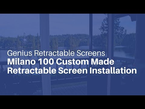 Genius Retractable Screens - Milano 100 Custom Made Retractable Screen Installation