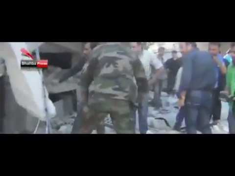 BBC News Syria conflict: Deadly air strike on Aleppo market