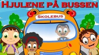 Hjulene på bussen | 15 minutter mix med tekst | Danish Wheels on the Bus Compilation