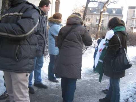 Manifestation devant le Consulat d'Algérie à Montréal.wmv