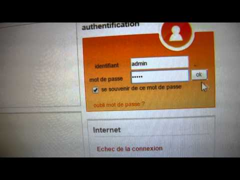 comment configurer ID de connexion internet avec LIVEBOX PRO de ORANGE FRANCE TELECOM