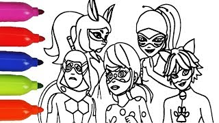 MiracuLous LadyBug ALL NEW HEROES ColoRing BooK For Kids video