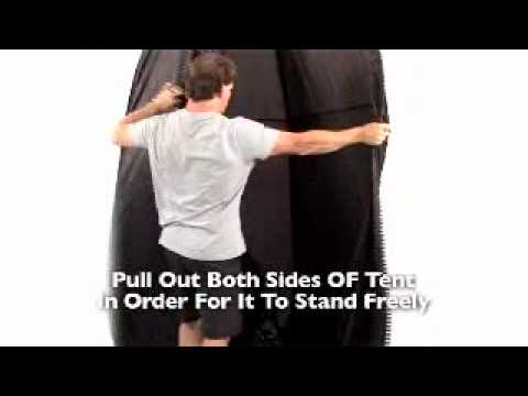 how to fold a spray tan tanning pop up tent