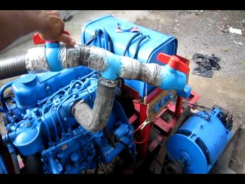 Cambodia Wood Gas Engine 3Hours No Problem (Chanthy)
