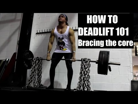 HOW TO DEADLIFT CORRECTLY 101: Bracing Your Core (Protecting Your Spine) Image 1