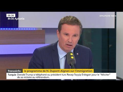 Nicolas Dupont-Aignan invité de France Info tv