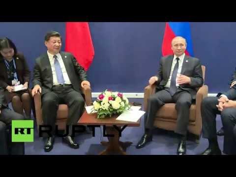 Владимир Путин встретился с председателем КНР