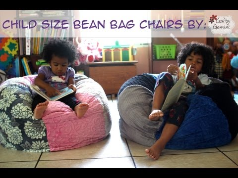 How to Make a Bean Bag Chair- Child Size &amp; GIVEAWAY!