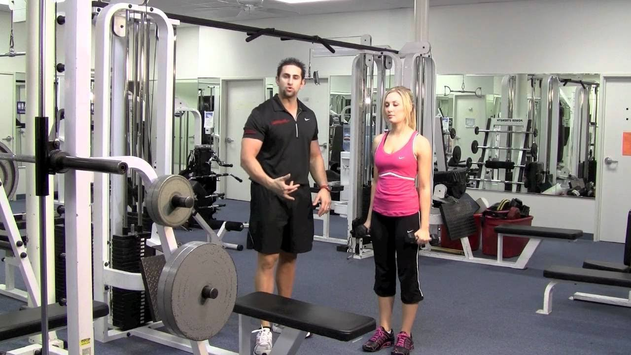 dumbell step up with shoulder press by trainer approved