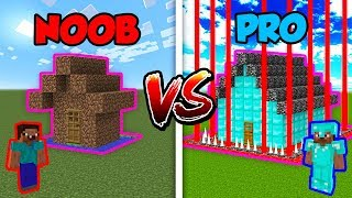 Minecraft NOOB vs. PRO: SAFEST BASE in Minecraft!