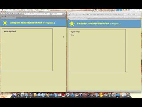 Javascript Benchmark - Safari 4 Beta and Firefox 3