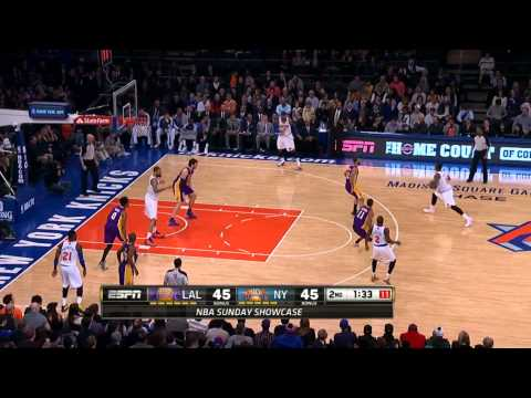 Carmelo Anthony 35pts Highlights vs the Lakers 13/14 NBA *Game after 62pts