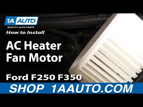 How To Install Replace AC Heater Fan Motor 99-07 Ford F250 F350 Super Duty 1AAut