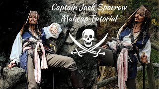 Jack Sparrow Cosplay Makeup Tutorial! Female to Male Transformation