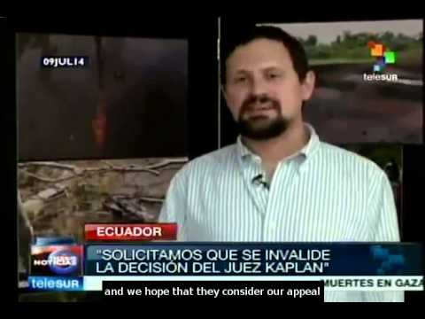 Ecuadorian lawyers appeal against Chevron case