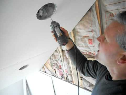 Cutting Drywall Hole With Rotozip For Recessed Ceiling