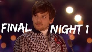 LOUIS TOMLINSON AT THE X FACTOR FINAL NIGHT 1