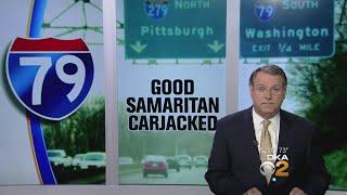 Crash Victim Steals Pickup, Drags Good Samaritan
