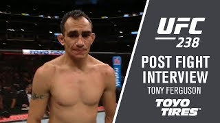"UFC 238: Tony Ferguson - ""I wanted to get a third round"""