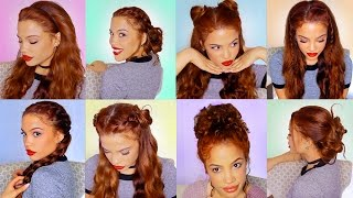 8 EASY HAIRSTYLES For Running Late!! (semi-Heatless)