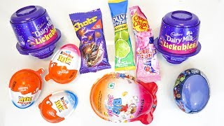 kinder joy and some candies opening
