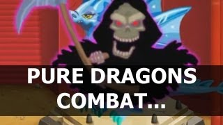 Dragon City Combat Fight with Pure Flame Pure Electric and Pure Dark Dragon in League Level 37