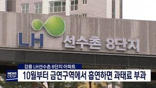 LH선수촌 8단지, 법정 금연아파트 지정