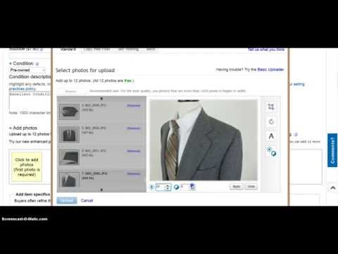 Listing A Sport Coat In 3 Minutes and 30 Seconds on eBay