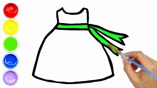 Baby Flower Dress Coloring and Drawing for Kids Painting for Toddlers | Creative World
