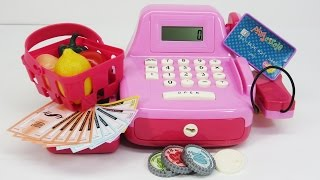 Cash Register Toy With Scanner And Play Food!
