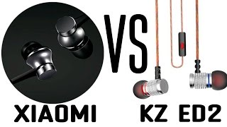 Xiaomi Piston Basic Edition VS KZ EDR2 HiFi Mega Bass. Распаковка и обзор.