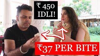 LUXURY INDIA FOOD:  ₹ 450 IDLI FOREIGNERS REACTION | TRAVEL VLOG IV