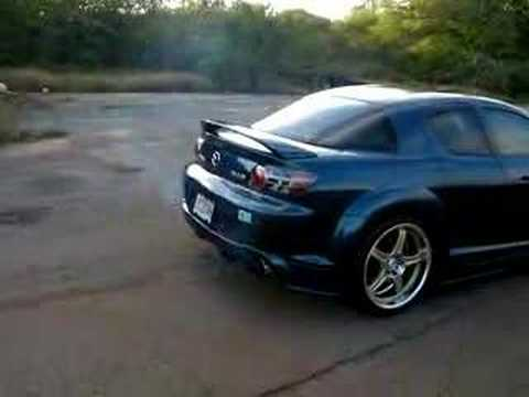 Kane's RX8 cleaning the pipes